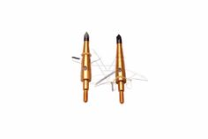 LongbowMaker 12Pcs Golden Swhacker Broadheads 100Grain 1.7 Cut for Compound Bow Crossbow Hunting
