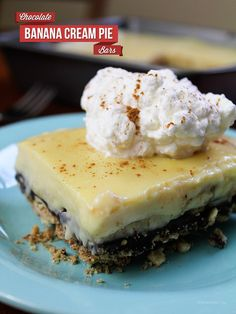 Chocolate Banana Cream Pie Squares
