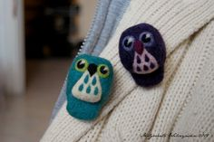 whooo, whooo - lovely owl brooches