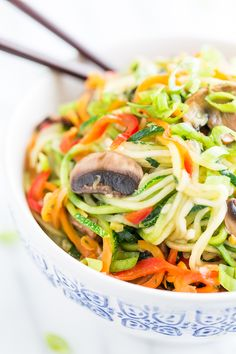 Zucchini Noodle Veggie Lo Mein | Get Inspired Everyday!