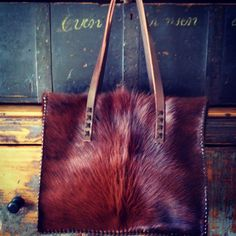 The Market Tote from gowestdesigns.us. Custom cowhide purses and totes.