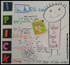 ipick books Teaching Child To Read, Daily Five, New Classroom, Readers Workshop, Teacher Blogs, Anchor Charts, Second Grade, Language Arts, Literacy