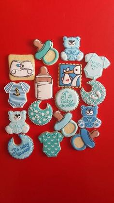 Baby Shower Cookies by leigh