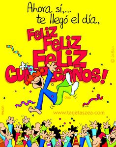 Feliz Cumpleaños - Happy Birthday!!! Spanish Birthday Wishes, Happy Birthday Celebration, Happy Birthday Images, Birthday Messages, Happy Birthday Wishes, Friend Birthday, Birthday Quotes, Birthday Greetings, Wish In Spanish