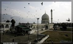 "The Hazratbal Shrine, is a Muslim shrine in Hazratbal, Srinagar, Jammu & Kashmir, India. It contains a relic, the Moi-e-Muqaddas, considered by many Kashmiri Muslims as a hair of the Islamic prophet Muhammad. The name comes from the word sanctuary Urdu Hazrat, meaning ""respected"" and the word Kashmiri ball, which means ""place."" So it means the place is given high regard and is respected among the people."