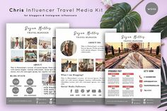 Media Kit Template, Social Media Template, Kit Design, Free Design, Social Media Branding, Layout, Graphic Design Templates, Press Kit, Instagram Influencer