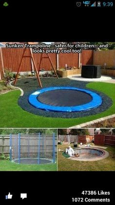 Good For Kids Who Spend Time On I Phones Or I Pads. They Might Get Some  Exercise With This.A Sunken Trampoline Is Safer For Kids And Looks Really  Cool Idea ...