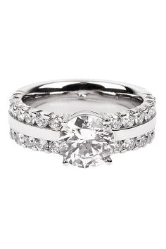 Furrer Jacot Lucienne .98ctw Diamond 2-Row Semi Mount Ring | Oster Jewelers