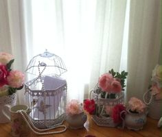 birdcage flower decoration for wedding