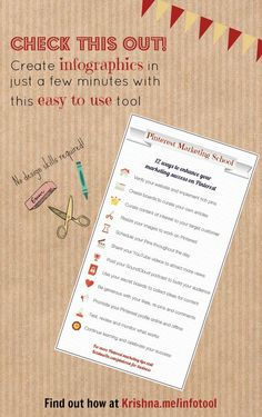 Visual content marketing tool - How to make your own infographics with this quick and easy tool which is perfect for small businesses with a limited budget. See an example infographic I created here http://pinterest.com/pin/287315651200708194