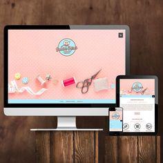 Ein modernes Webdesign in dezenten Pastelltönen