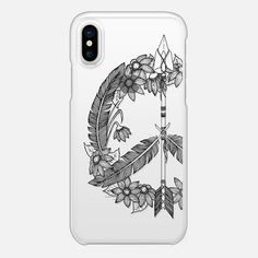 Bohemian Peace Sign - Snap Case