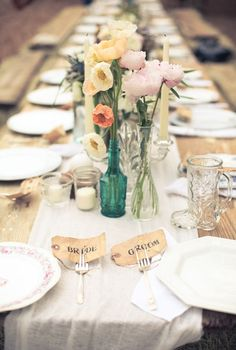 cute way to do place cards at a table