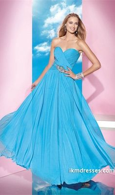 http://www.ikmdresses.com/2014-Sweetheart-A-Line-Dress-Pleated-Bodice-Full-Length-With-Shirred-Chiffon-Skirt-p84759