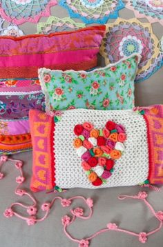 """These creative pillows are from our feature """"Crochet Hip & Hype"""