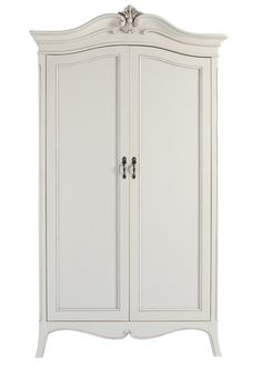 Louis French Ivory Painted 2 Door Double Wardrobe | Oak Furniture UK