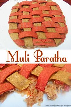 Lets make Muli Paratha more healthy and attractive to kids with this innovative idea. It needs little hardwork but everything is too less for kids. Vegetarian Platter, Vegetarian Recipes, Paratha Recipes, Flour Recipes, Food Festival, International Recipes, Street Food, Indian Food Recipes, Indian Breads