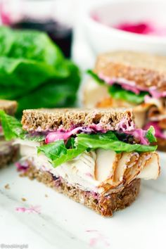 Thanksgiving Leftovers? We've got the perfect turkey sandwich recipe! Blueberries add just a touch of sweetness to this delicious sandwich! #LittleChanges
