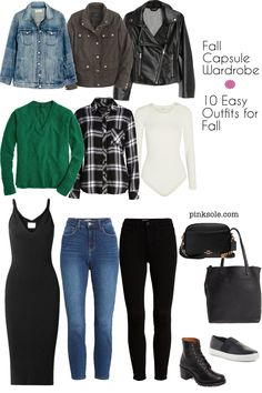 13 Pieces – 10 Outfits Fall 2019 Capsule Wardrobe | PinkSole
