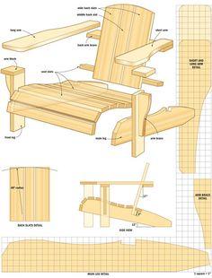 DIY Muskoka Chair like this but a litle better