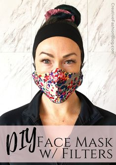Make this DIY Face mask sewing pattern with filter for your whole family! This printable pdf sewing pattern comes in 3 different sizes for kids, teens and adults. This easy sewing pattern includes saf Easy Face Masks, Homemade Face Masks, Create A Face, Diy Masque, Do It Yourself Fashion, Easy Sewing Patterns, Free Sewing, Sewing Tips, Sewing Crafts