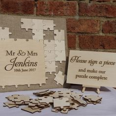 Puzzle Guest Book | Kathryn Deeley - Handmade Wedding Stationery