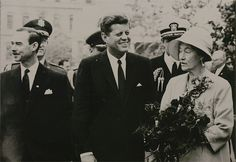 president kennedy and grand duchess luxembourg