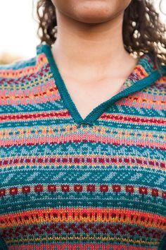 Ravelry: Flower Medley Hoodie pattern by Daniela Nii Fair Isle Knitting Patterns, Hoodie Pattern, Knit Picks, Ravelry, Crochet Top, How To Make, How To Wear, Men Sweater, Wool