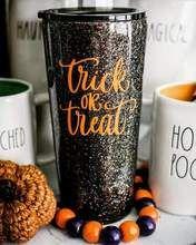Glitter Tumbler - Fall glitter tumbler - Halloween glitter tumbler - Pumpkin Spice - monogram cup - Trick or Treat -Glitter Yeti - monogram Vinyl Tumblers, Custom Tumblers, Personalized Tumblers, Personalized Gifts, Glitter Crafts, Glitter Decorations, Glitter Projects, Burlap Projects, Burlap Crafts
