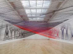 by Los Angeles-based artist Pae White / Artists Insomnia Leads to Large Scale Thread Installation - My Modern Metropolis