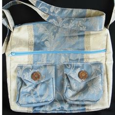 Make this Two Pocket Messenger Bag from an old pair of jeans, giving your old clothes a stylish new use. Free messenger bag patterns like this walk you through. DIY sewing projects like this are great ways to reuse jeans.