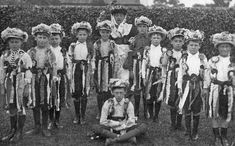 Young Morris dancers gather in Lymm, Cheshire, England on Whit Monday, which fell on the of May, X Ritual Dance, Morris Dancing, Rubber Raincoats, Folk Clothing, Book Of Shadows, British Isles, Good Old, Folklore, Dancers