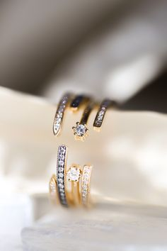 Some things are best left open-ended. Stack a cuff ring around your engagement ring center stone or add a unique touch to your everyday ring stack. Cuff rings bring interest and dimension to your hand.