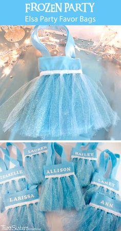 Elsa Party Favor Bags