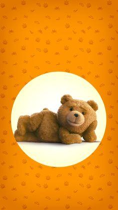 ↑↑TAP AND GET THE FREE APP! Lockscreens Art Creative Bear Ted 2 Is Coming Fun Movie Cinema Orange Circle HD iPhone 6 Lock Screen