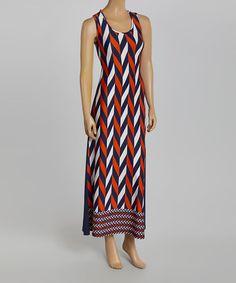 Another great find on #zulily! Blue & Orange Geometric Nicole Maxi Dress by 3R Street Wear #zulilyfinds