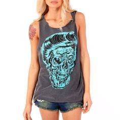 34 € joli haut rockabilly PONY BOY MUSCLE charcoal IRON FIST