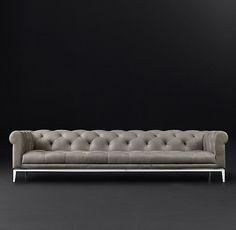 Italia Chesterfield Leather Sofa