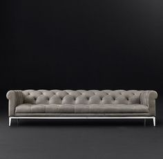 Italia Chesterfield Leather Sofa
