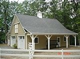 Friendship nj horse barn and garage with shingle roof