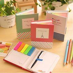 Different Shape Self-Stick Notes Set with Ballpoint Pen(Random Color) – MXN $ 117.92