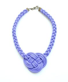 Lavender violet knot necklace rope jewelry purple by elfinadesign
