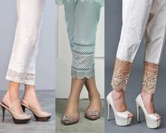 Latest Trousers Designs In Pakistan For 2019 Latest straight pants in Pakistan Salwar Designs, Kurti Neck Designs, Kurta Designs Women, Kurti Designs Party Wear, Blouse Designs, Stylish Dress Designs, Designs For Dresses, Trousers Women, Pants For Women