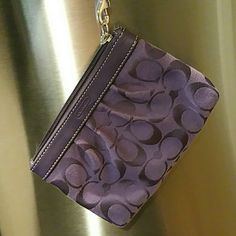 Coach wristlet & clutch purple color Small size on the go wristlet or clutch. Purle color Coach Bags Clutches & Wristlets