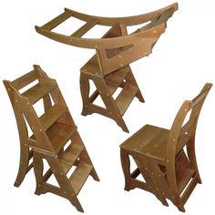 Вариантов стула–стремянки может быть множество, основное различие между ними заключается в конструкции