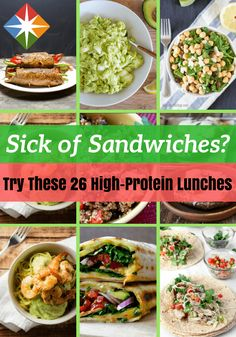 Stay energized all the way to dinner with these healthy protein-packed lunches. From soup and salad to wraps and pastas, you won't find a single sandwich recipe in the bunch.