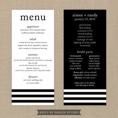 Wedding Menu and Program Beloved  Digital by replybydesignstudio, $20.00