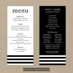 Wedding Menu and Program Beloved  Digital by replybydesignstudio, $20.00