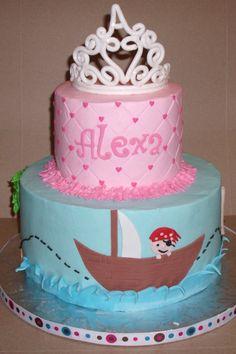 Princess & Pirate Cake