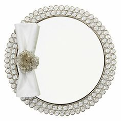 Rings of crystals provide a mesmerizing backdrop for your place settings. Set of four. $139.80 #ZGallerie #Placemat